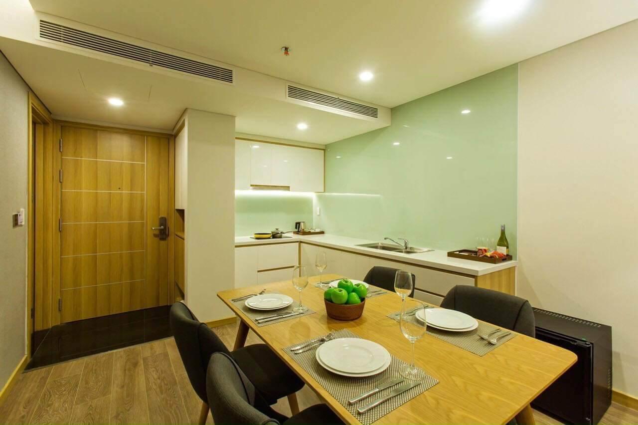 phòng bếp căn hộ FHome - Đà Nẵng
