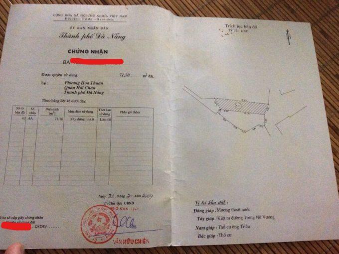 sổ đổ đất kiệt Nguyễn Hữu Thọ