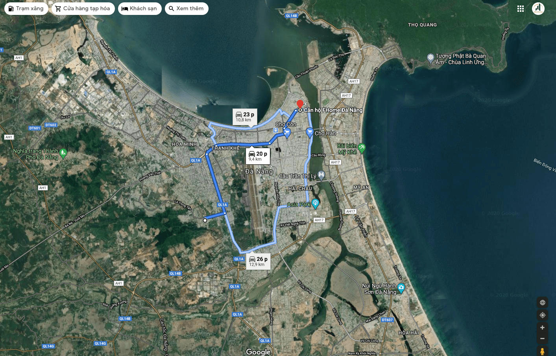 sơ đồ vị trí căn hộ Fhome Đà Nẵng