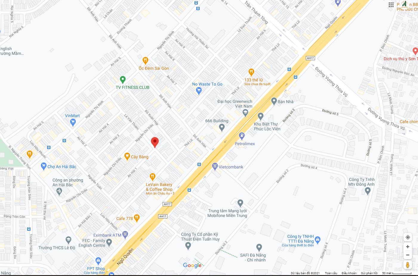 sơ đồ vị trí nhà An Hải 1