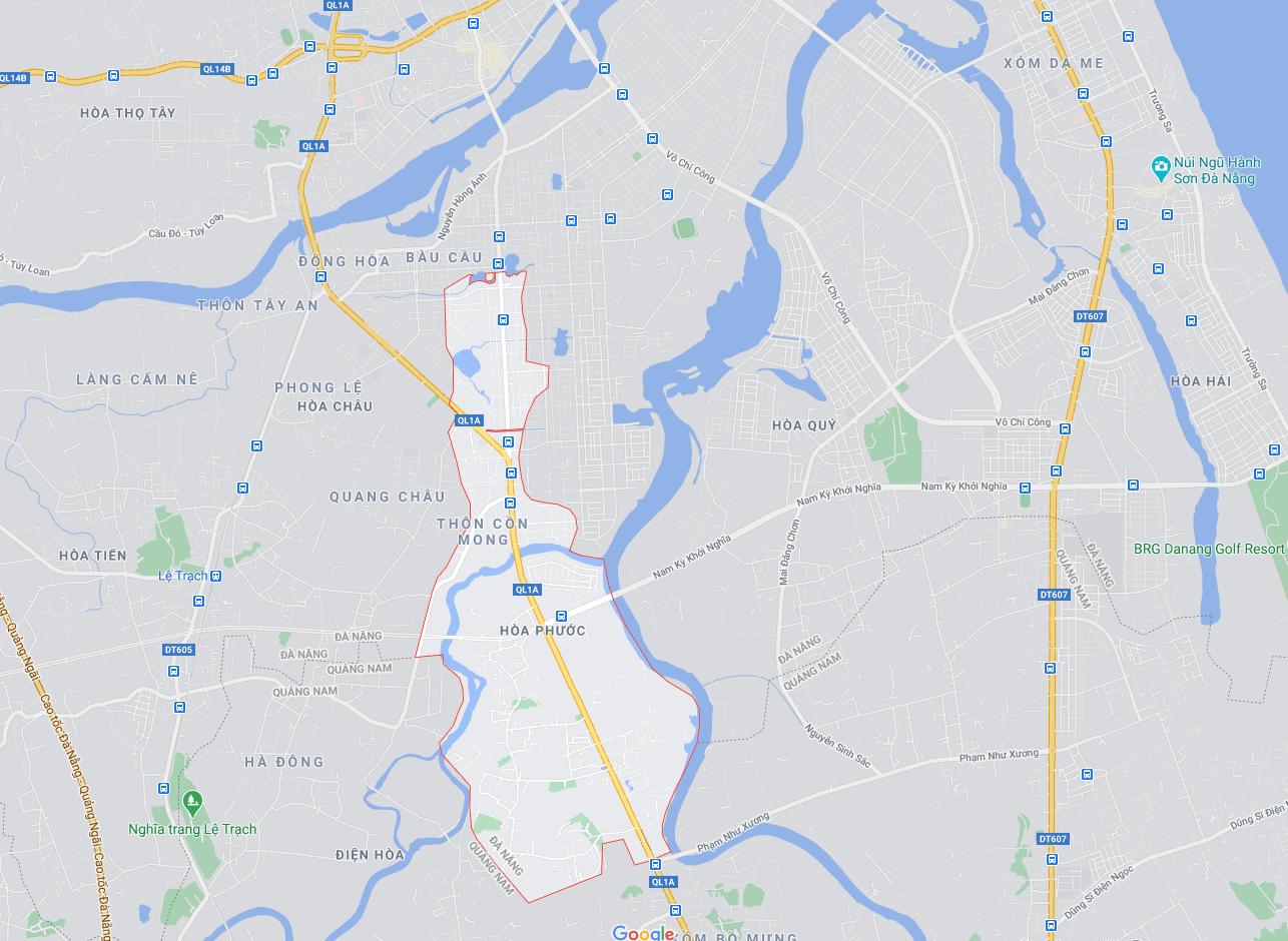 vị trí đất bán Hòa Phước - Hòa Vang - Đà Nẵng