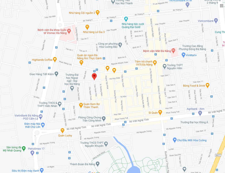 vi tri nha mặt tiền đường Hà Huy Giáp - Hải Châu - Đà Nẵng