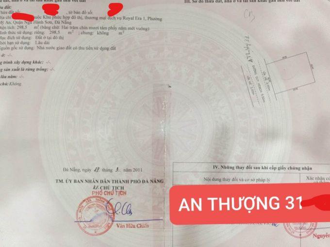 bán đất nền khu An Thượng - Đà Nẵng