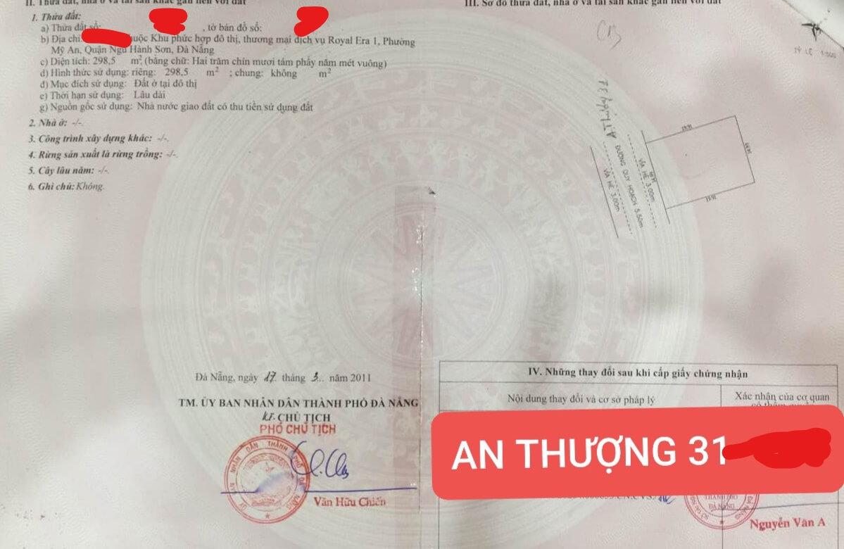 Bán Đất Nền Đường An Thượng 31 – Đà Nẵng | Trần Minh BĐS