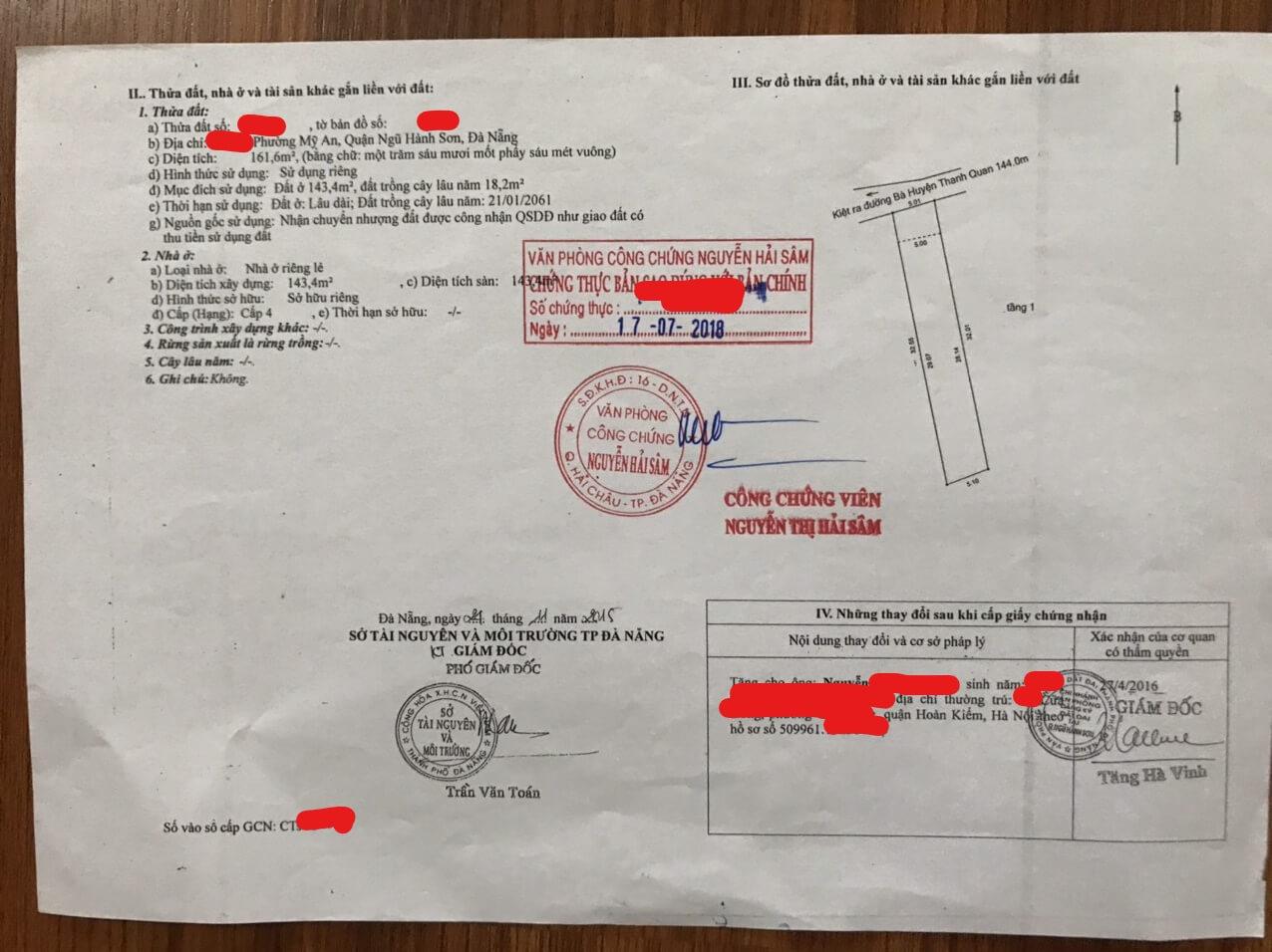 đất kiệt đường Bà Huyện Thanh Quan - Ngũ Hành Sơn - Đà Nẵng