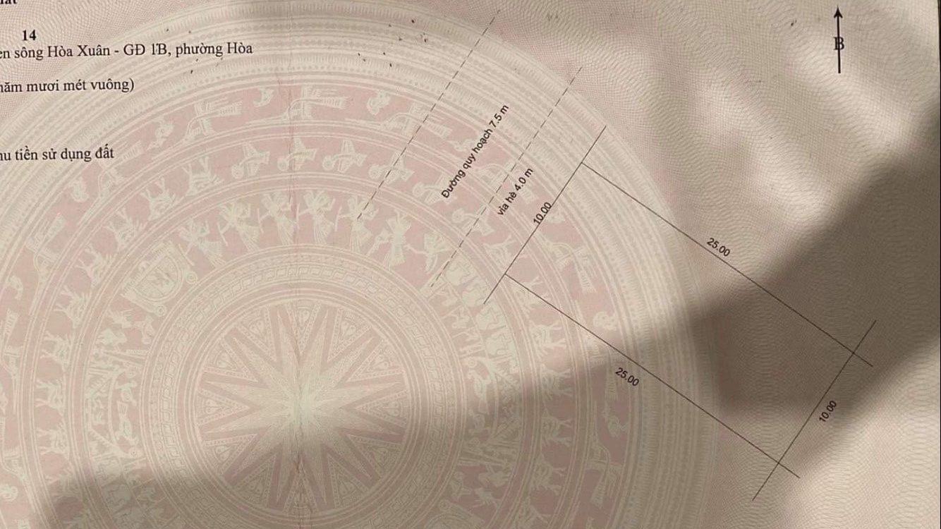 hình ảnh sổ đỏ đất nền đường Chế Viết Tấn - Hòa Xuân - Cẩm Lệ - Đà Nẵng
