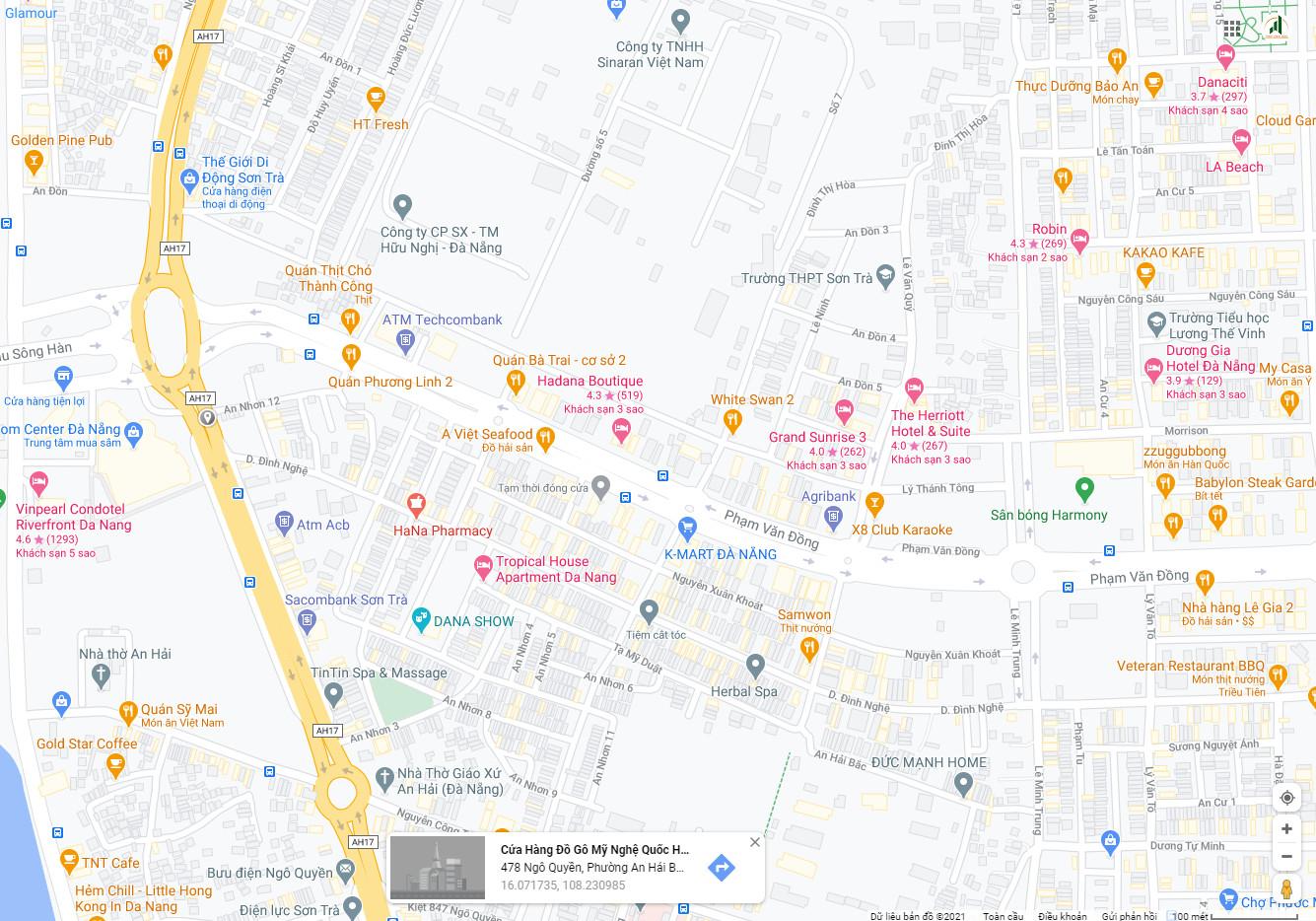 sơ đồ đất bán đường Ngô Quyền - Đà Nẵng