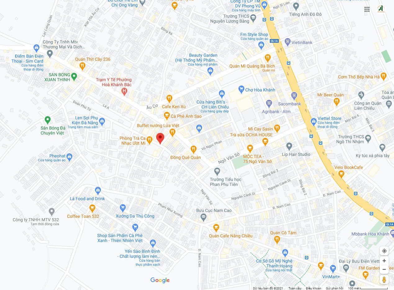 sơ đồ đường Đoàn PhúTứ - Liên Chiểu - Đà Nẵng