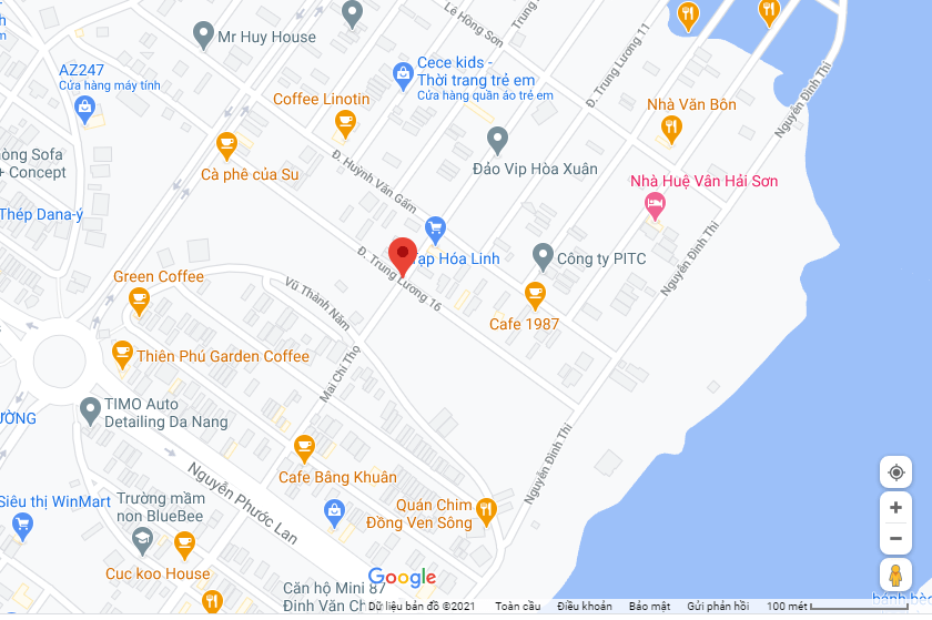 sơ đồ đường Trung Lương 16 - Hòa Xuân - Cẩm Lệ - Đà Nẵng