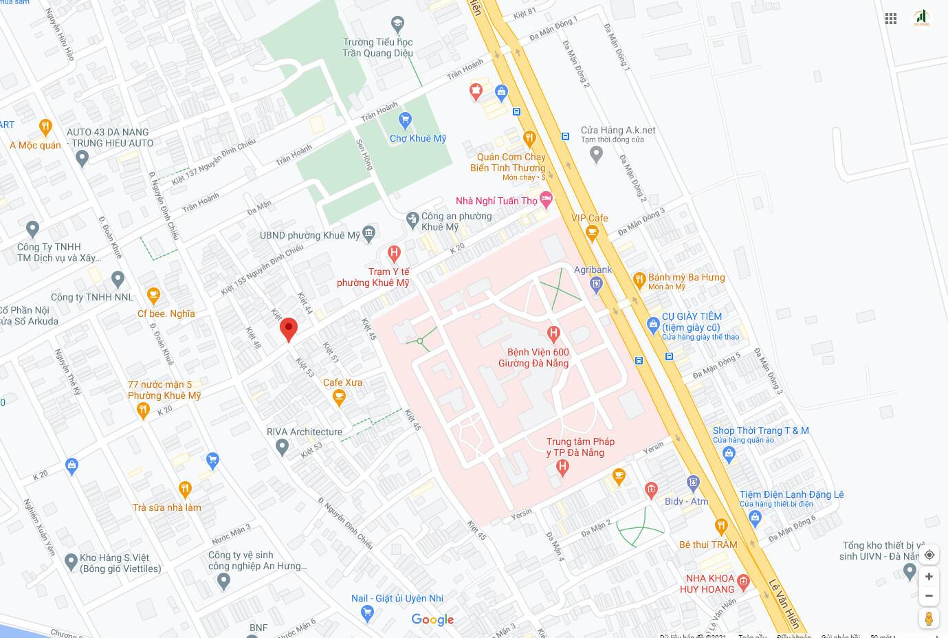 sơ đồ nhà đường k20 - Ngũ Hành Sơn - Đà Nẵng