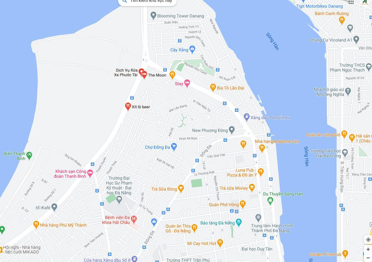 sơ đồ vị trí đất biển đường Nguyễn Tất Thành - Đà Nẵng