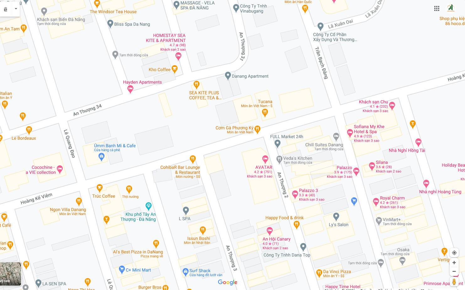 sơ đồ vị trí đất đất đường Hoàng Kế Viêm - Ngũ Hành Sơn - Đà Nẵng