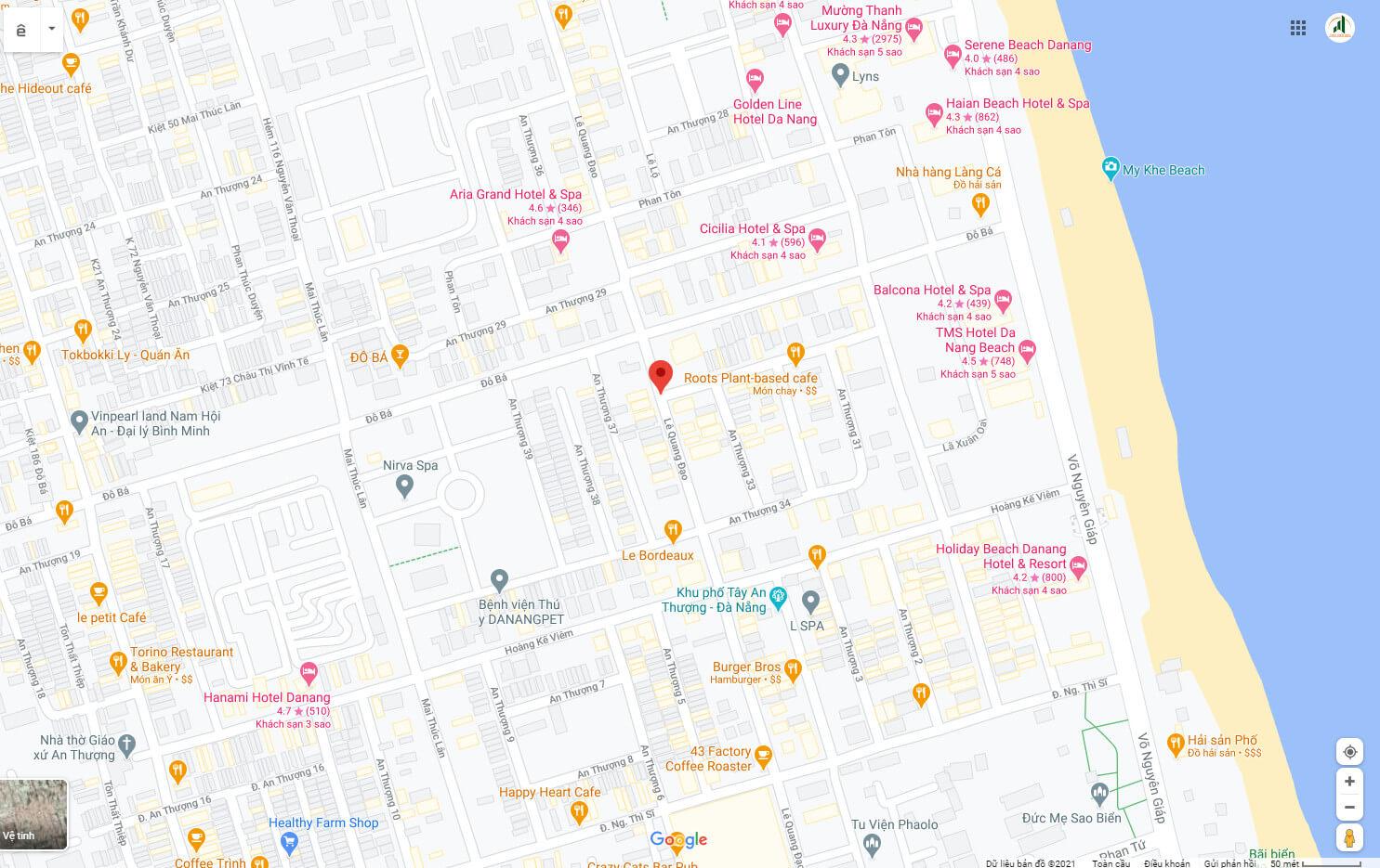 sơ đồ vị trí đất đường Lê Quang Đạo - Ngũ Hành Sơn - Đà Nẵng