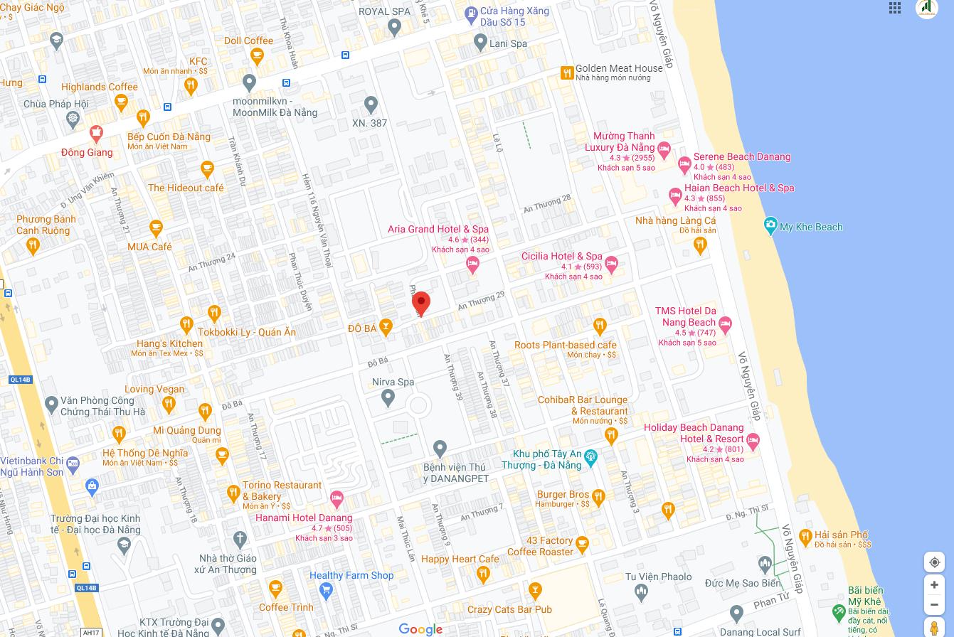 sơ đồ vị trí đất nền bán An Thượng 29