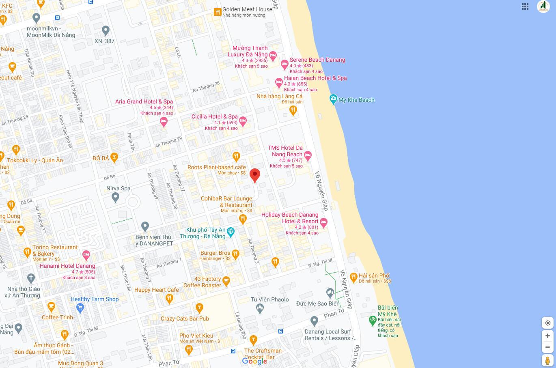 sơ đồ vị trí đất nền bán khu An Thượng - Đà Nẵng
