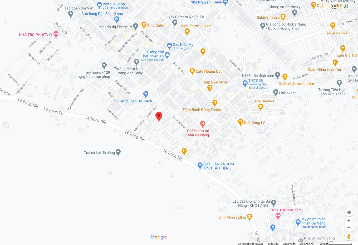 sơ đồ vị trí đất nền khu Phước Lý - Cẩm Lệ - Đà Nẵng