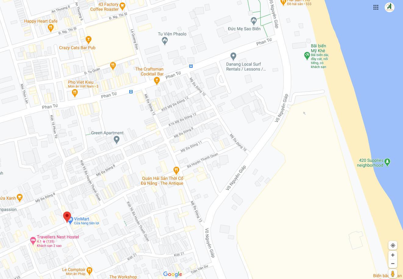 sơ đồ vị trí đường Bà Huyện Thanh Quan