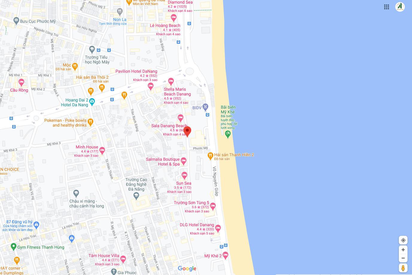 sơ đồ vị trí đường Lâm Hoành - Đà Nẵng
