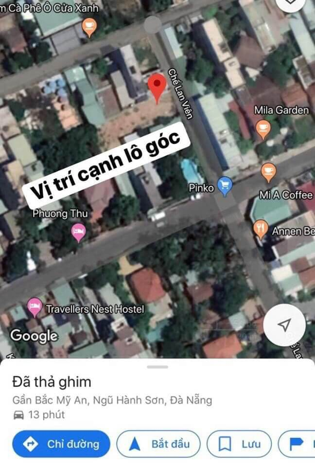 sơ đồ vị trí lô đất kiệt đường Bà Huyện Thanh Quan - Ngũ Hành Sơn - Đà Nẵng