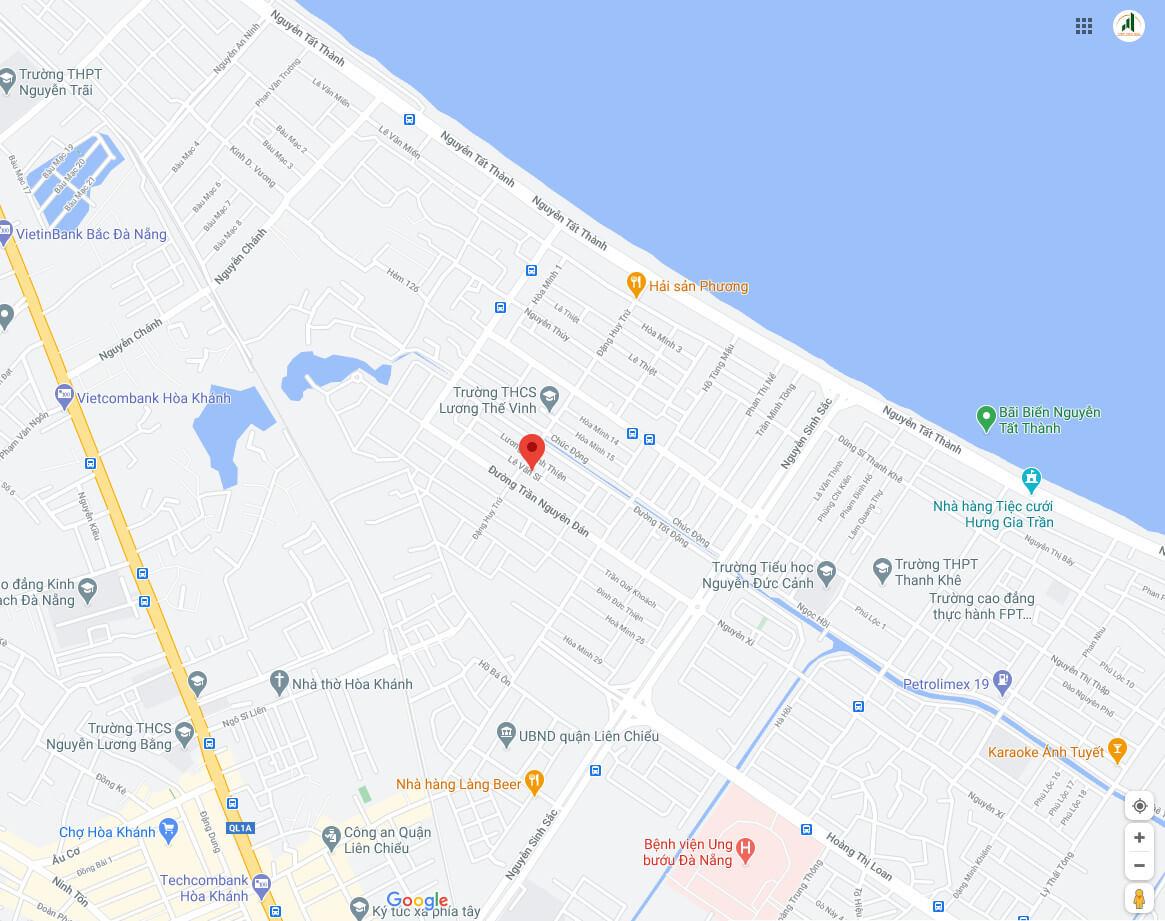 sơ đồ vị trí nhà đường Lê Văn Sĩ - Liên Chiểu - Đà Nẵng