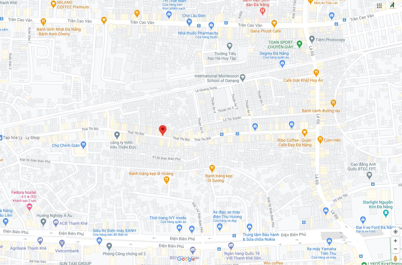 sơ đồ vị trí nhà đường Thái Thị Bôi