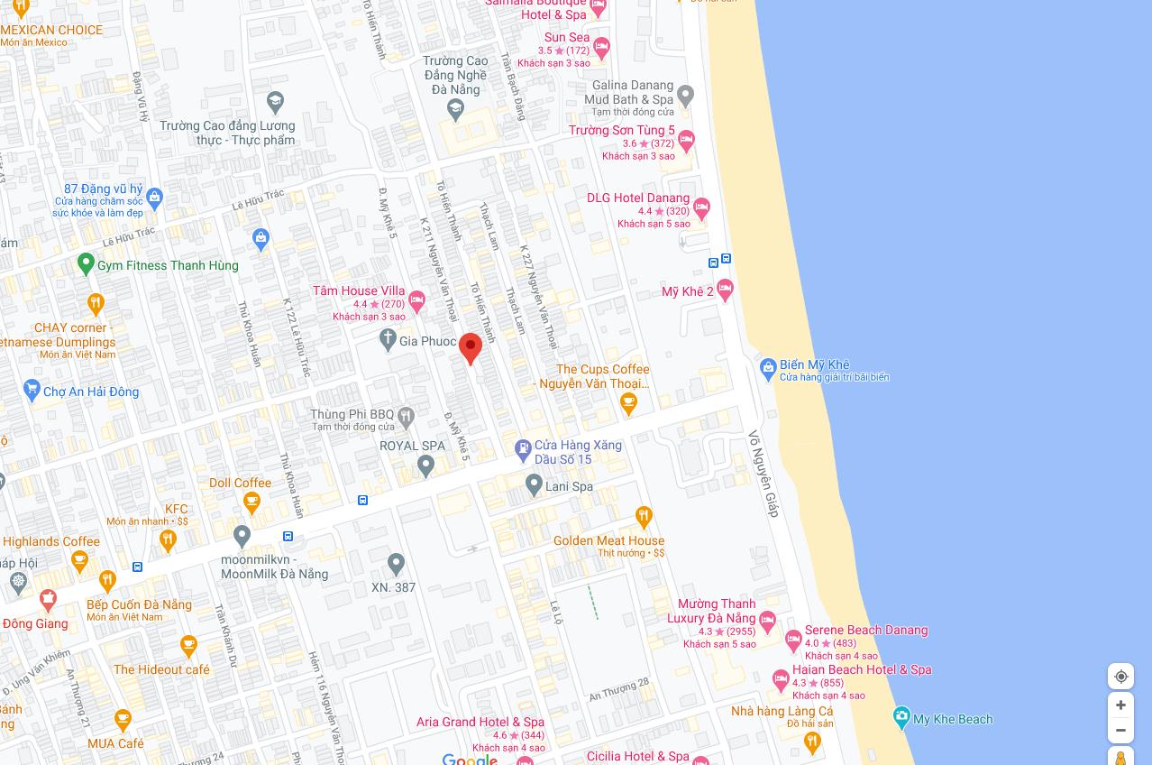 sơ đồ vị trí nhà kiệt đường Nguyễn Văn Thoại
