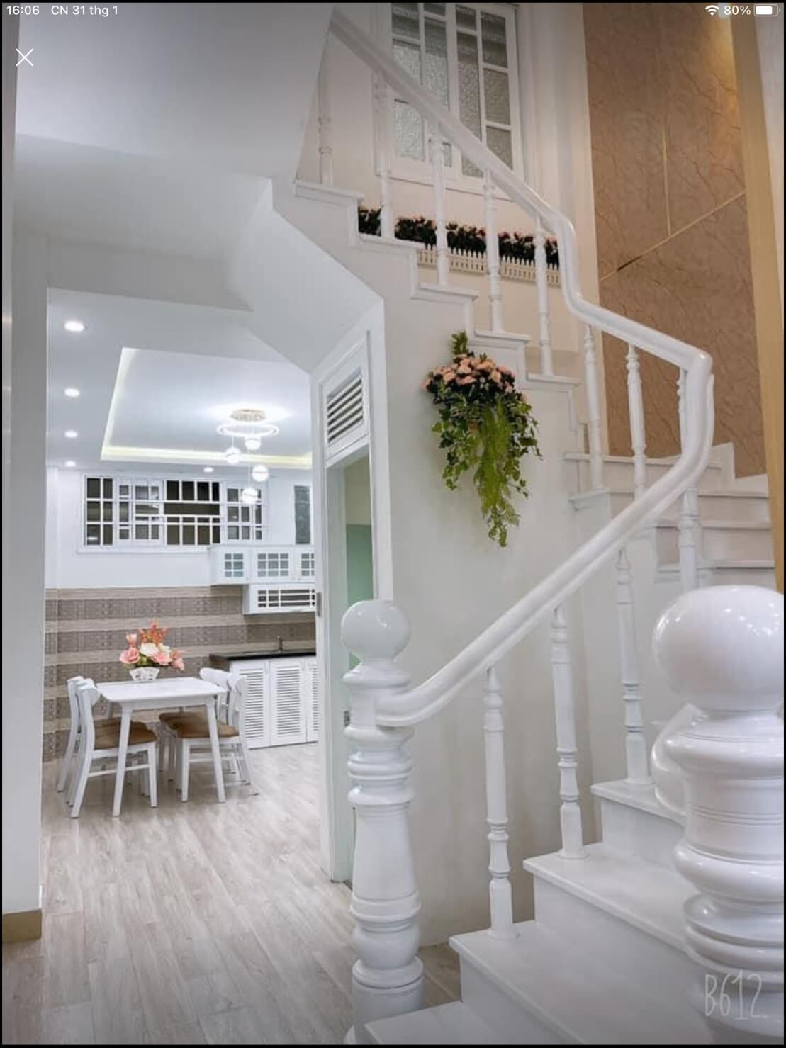 view phòng bếp nhà Hàn Mạc Tử