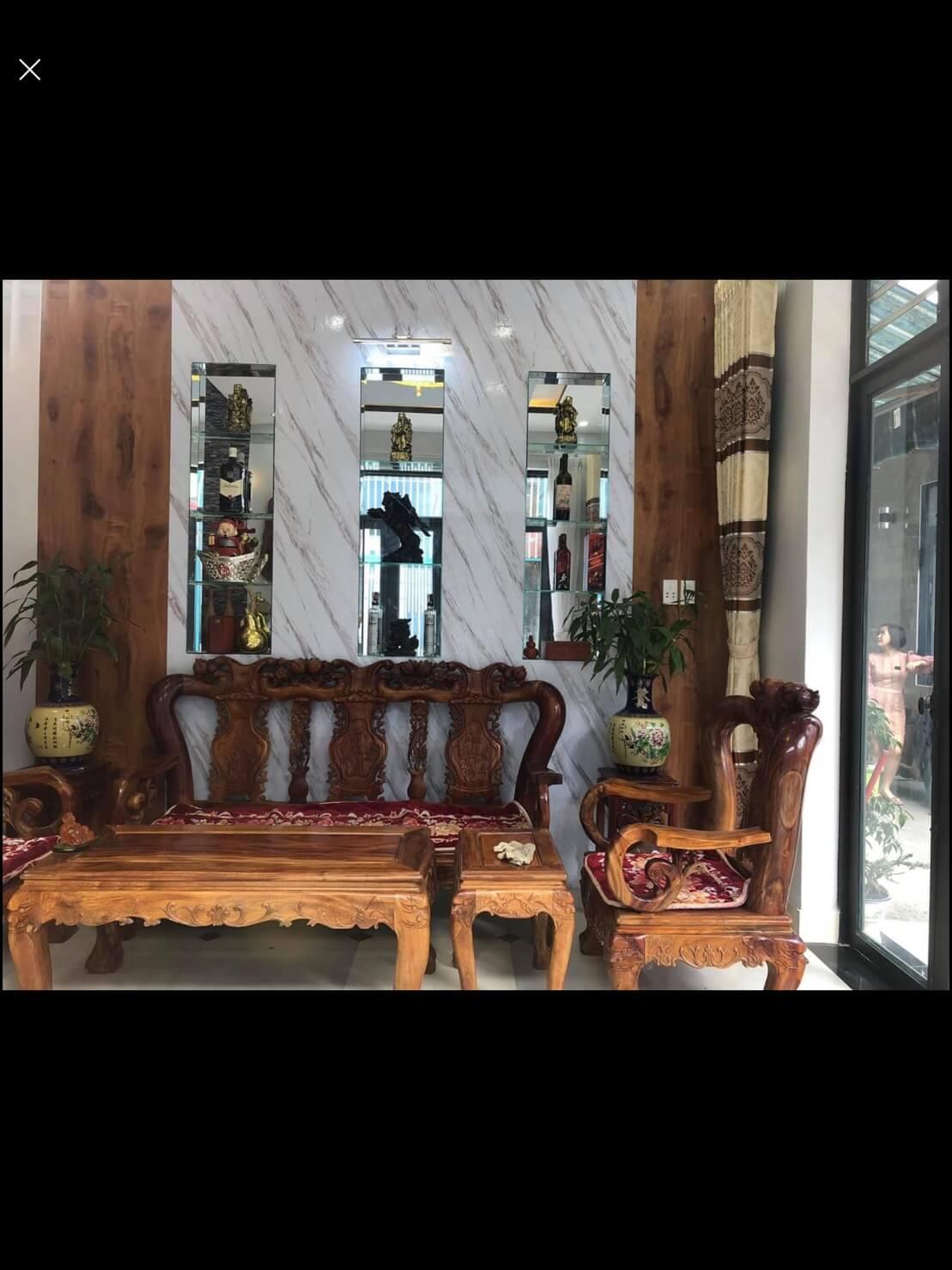view phòng khách nhà kiệt Điện Biên Phủ