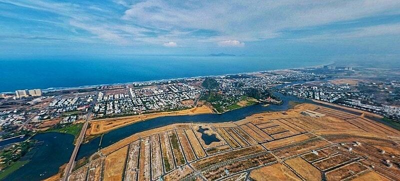 view trên cao nhìn xuống đất nền Hòa Xuân - Trần Minh BĐS