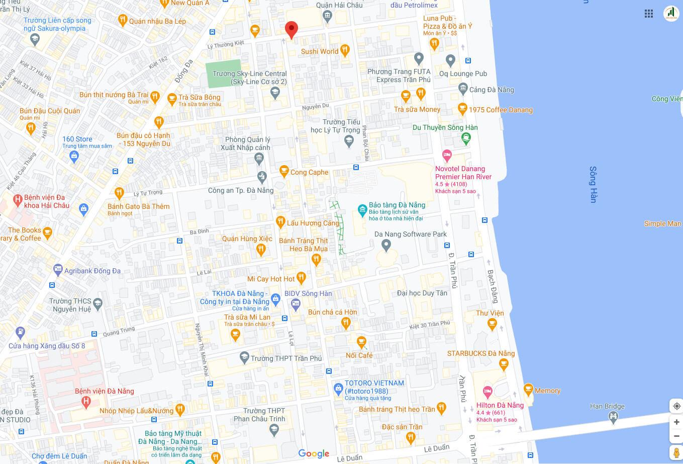 sơ đồ vị trí đất đường nguyễn chí thanh - đà nẵng