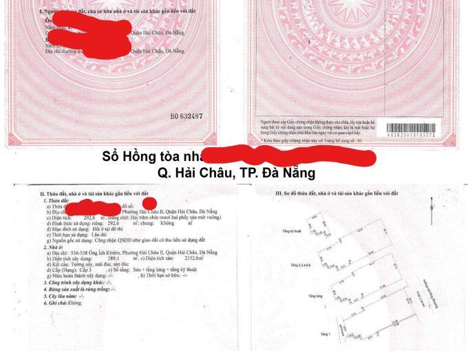 sổ hồng tòa nhà cần bán làm văn phòng cho thuê tại Đà Nẵng