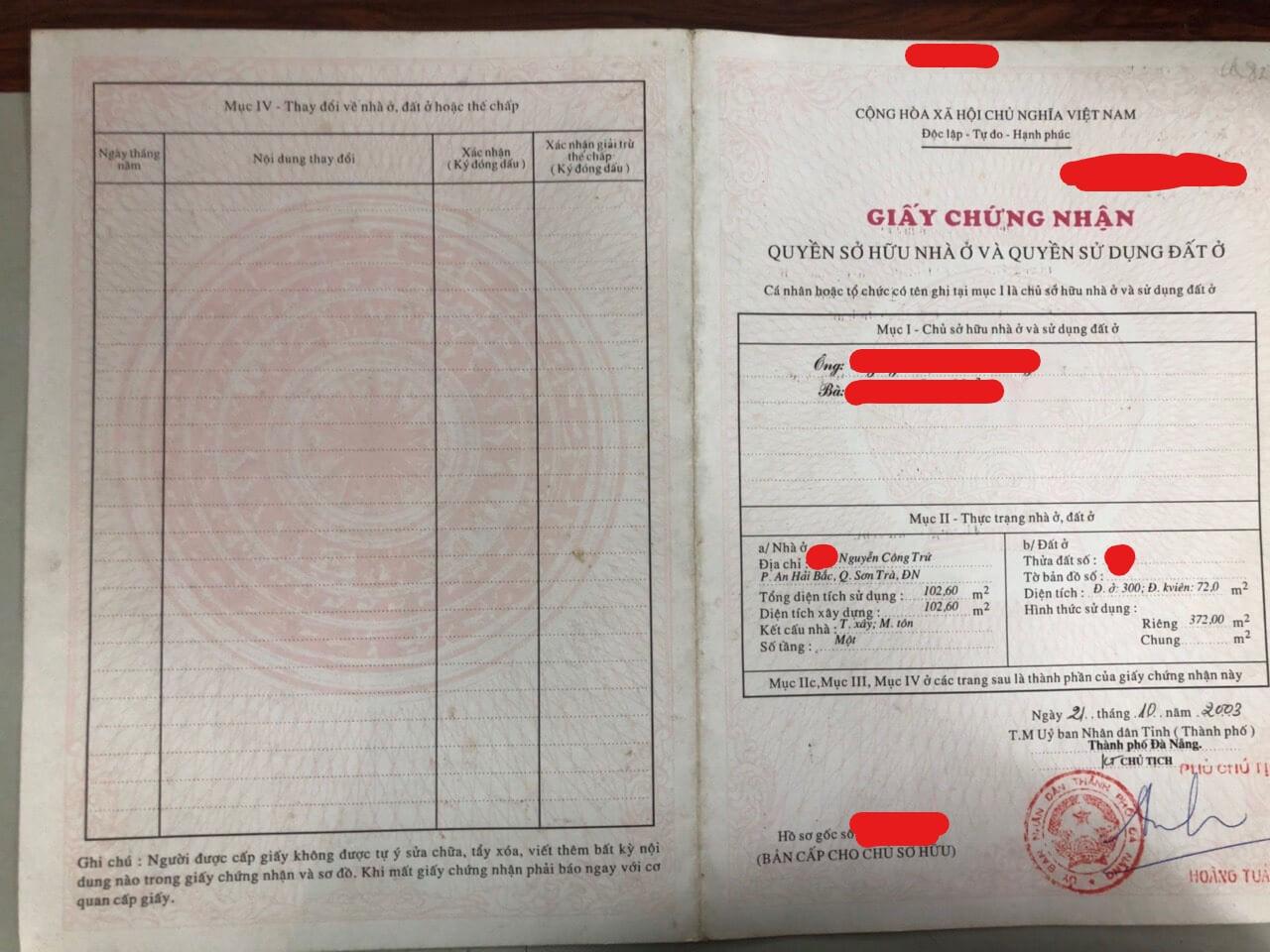 Bán Nhà Đường Nguyễn Công Trứ – Sơn Trà – Đà Nẵng | Trần Minh BĐS
