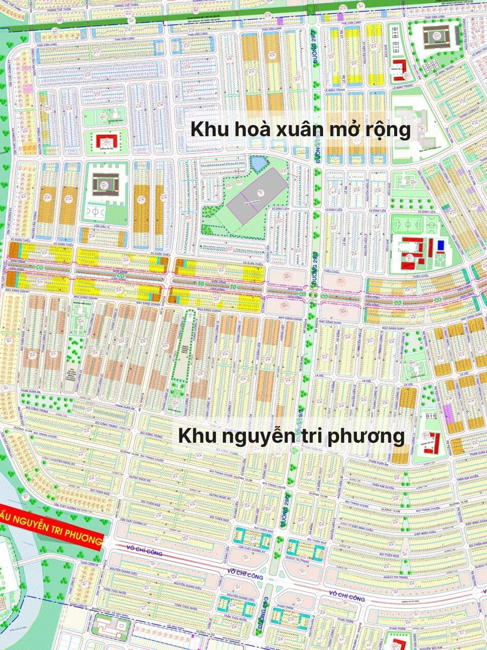 sơ đồ khu Nam Hòa Xuân - Đà Nẵng