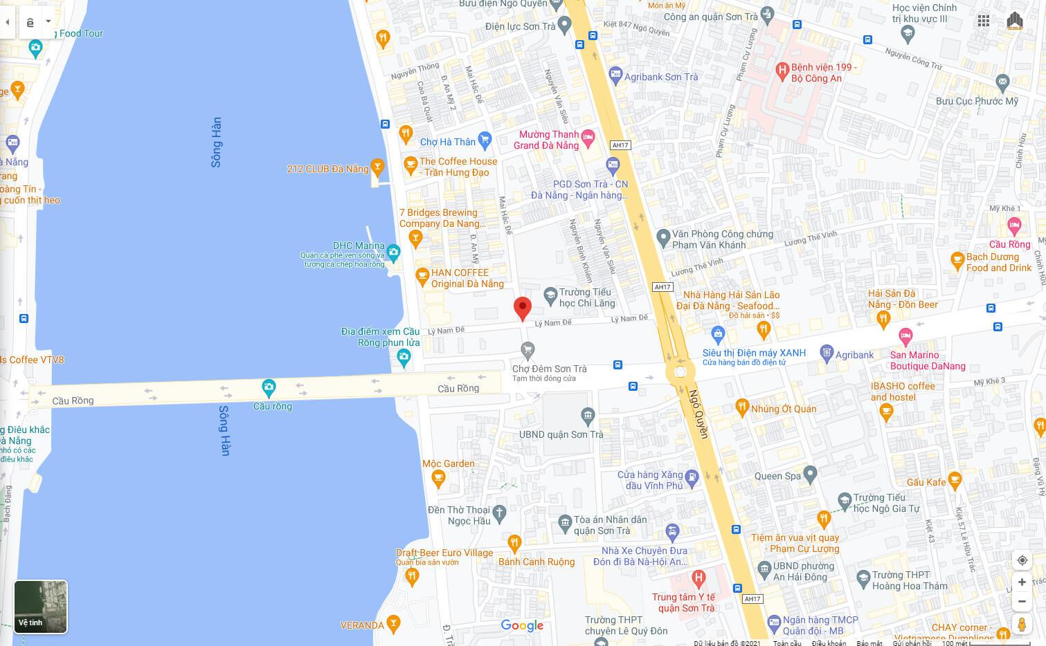 sơ đồ vị trí nhà bán đường Lý Nam Đế