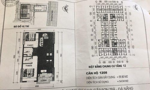 bản vẽ thiết kế căn hộ chung cư Mường Thanh - Đà Nẵng